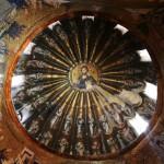 coupole avec Christ Pantocrator  à St Sauveur in Chora