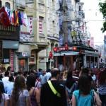 Le tramway nostalgique d'Istiklal Caddesi