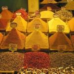 Produits du bazar aux épices d'Istanbul