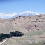 le sommet du mont Ararat vu du palais Ishak Paşa