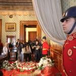Le lit où s'est éteint Atatürk au palais de Dolmabahçe