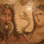 Okeanos et Thétys, musée des mosaiques de Zeugma à Gaziantep