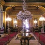 la somptueuse salle de réception du palais de Beylerbeyi