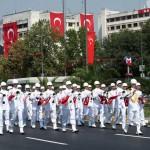 Fanfare militaire pour la fête de la Victoire en Turquie