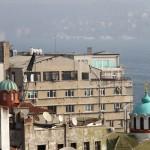Les dômes de deux églises russes d'Istanbul