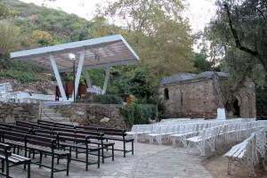 Le lieu pour les offices à la Maison de la Vierge d'Ephèse