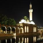 Le bassin aux carpes sacrées et la mosquée Rivzaniye à Urfa