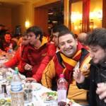 Ambiance pré-match avec les supporters de Galatasaray