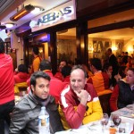 Rouge et jaune pour les supporters de Galatasaray