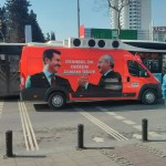 Bus de campagne électorale à Istanbul