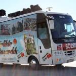 Bus de campagne électorale à Side