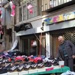 Etalage de chaussures au marché de Samatya