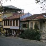 Maisons traditionnelles près du mausolée vert à Bursa