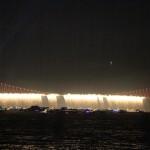 Pont du Bosphore pour la fête de la République turque