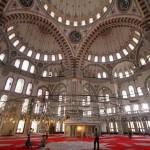 Salle de prière, mosquée de Fatih à Istanbul