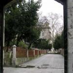 Une des portes d'entrée de la mosquée de Fatih à Istanbul