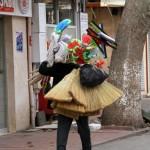 Vendeur ambulant de balai à Istanbul