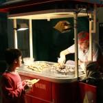 Marchand de marrons chauds à Istanbul