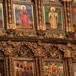 Détail de l'iconostase de l'église patriarcale St-Georges au Fener, Istanbul