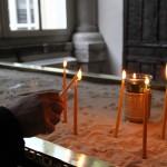 Dans l'entrée de l'église Saint-Georges du Patriarcat grec orthodoxe au Fener, Istanbul