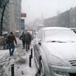 Şişli sous la neige et le blizzard