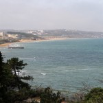La plage de Kilyos au bord de la mer Noire