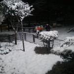 Parc pour enfants sous la neige à Istanbul