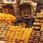 Fruits secs au bazar égyptien d'Istanbul