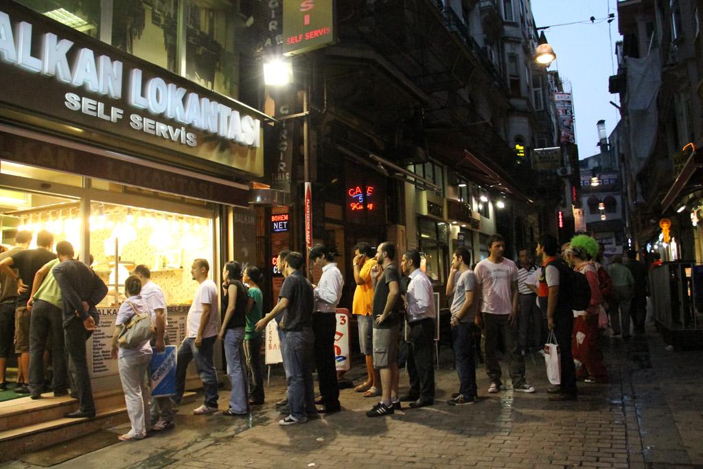 Beyoğlu, un soir de rupture du jeûne durant le Ramadan