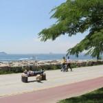 Une large et belle voie piétonne à Moda, Istanbul