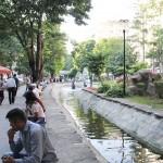 Au bord de la rivière Porsuk à Eskişehir