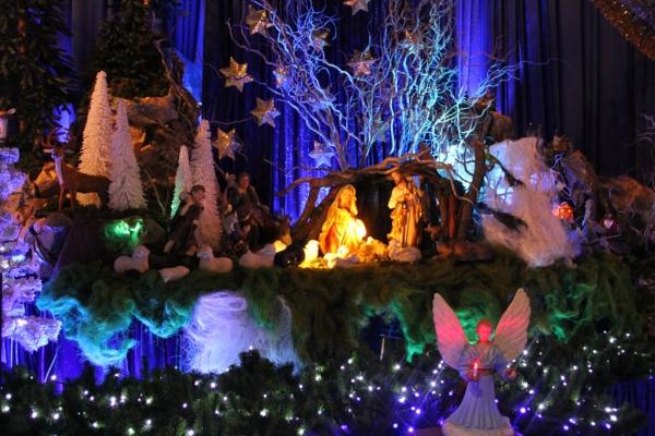 Crèche de Noel à l'église Saint-Antoine d'Istanbul