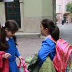 Deux écolières turques à Istanbul