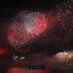 Feu d'artifice sur le Bosphore pour la fête de la République