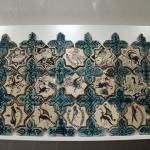 Fresque en céramique de Kubadabad, musée Karatay à Konya