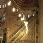 La chaire de la mosquée Selimiye à Edirne