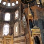 Le mihrab et le minbar de Sainte-Sophie