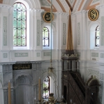 Le mirhab et le minbar de la mosquée Küçük Mecidiye de Beşiktaş
