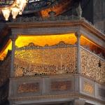 la place réservée des sultans à Sainte-Sophie