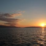 Coucher de soleil sur le lac d'Iznik