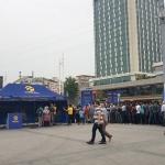 Avant l'iftar sur la place de Taksim