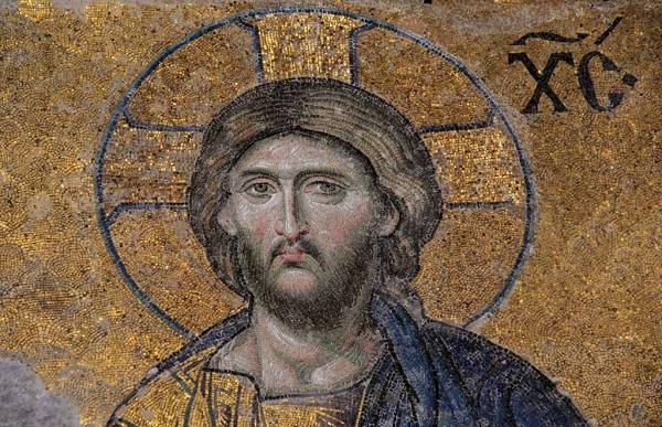 Visage du Christ, porte impériale de Sainte-Sophie