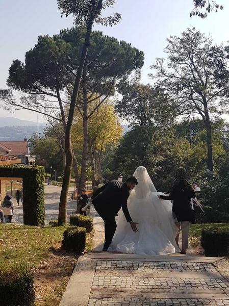 Mariés au parc d'Emirgan
