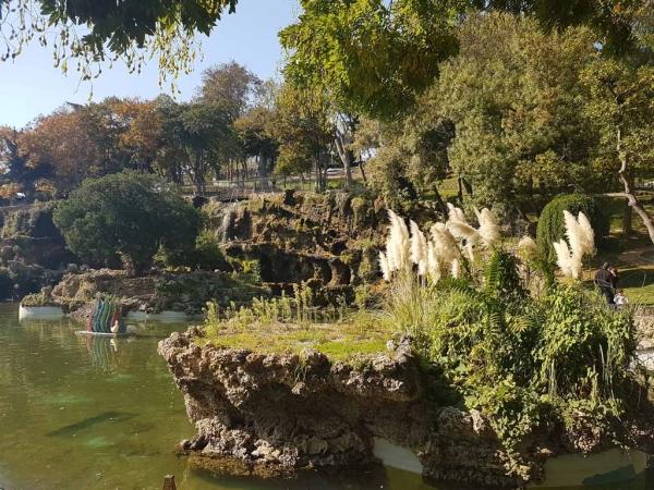 Plan d'eau, parc d'Emirgan