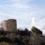 Reste de moulin sur les hauteurs de Dalyan
