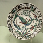 Assiette en faience, Kiosque des Faïences du musée archéologique d'Istanbul