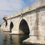 Détail du pont Sinan à Büyükçekmece
