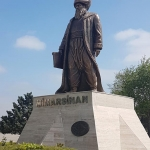 Statue de l'architecte ottoman Sinan à Büyükçekmece, Istanbul