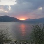 Coucher de soleil sur le lac d'Eğirdir