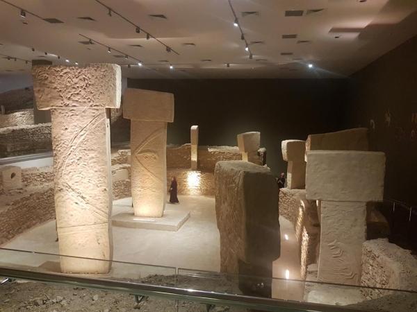 Reconstitution du site de Göbekli Tepe, musée archéologique d'Urfa